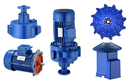 Main spare parts for impeller aerator