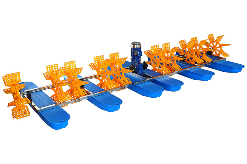 Ten-Impeller paddle wheel aerator